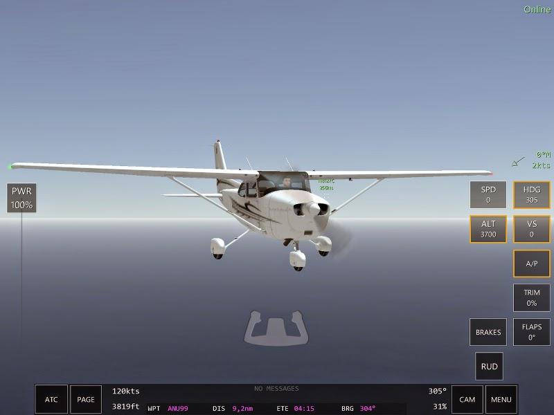 Cessna 172 scène du jeu de simulation de pilotage d'avions Infinite Flight