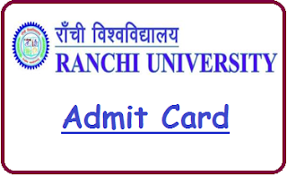 Ranchi University Admit Card 2020