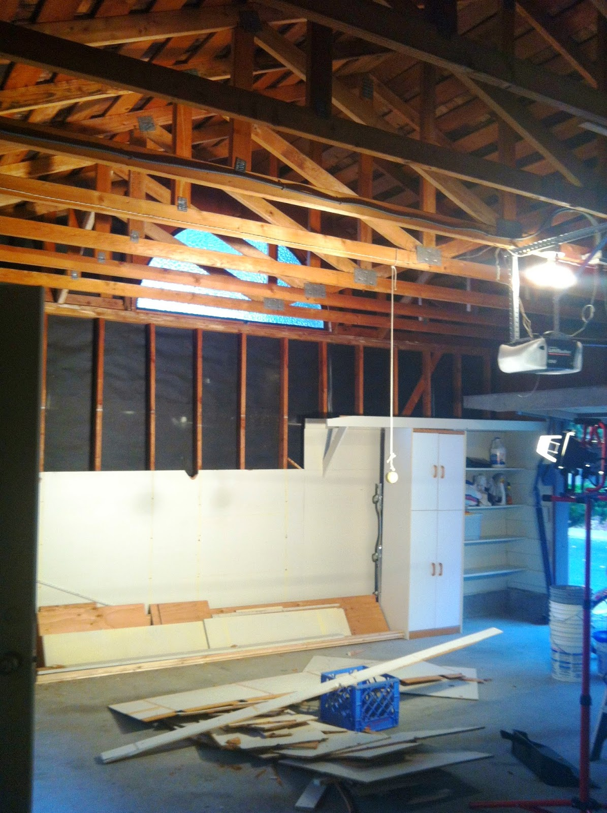 Diy Dithering Painting Garage Trusses And Shingles