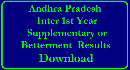AP Inter 1st Year Supply/Betterment 2019 Results – Check