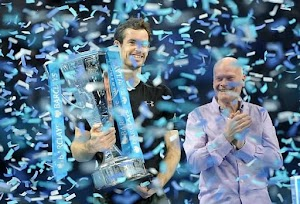 AT LAST!Star Tennis Player, Andy Murray finally beats Djokovic to claim the World Best Tennis Players