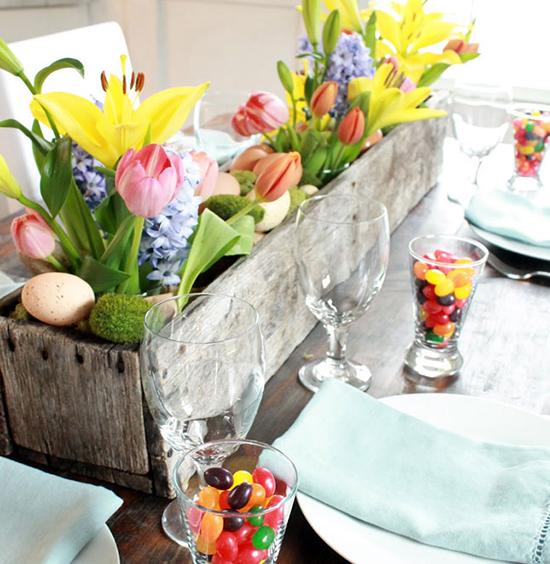 Desain Vas bunga dari kayu palet pekas