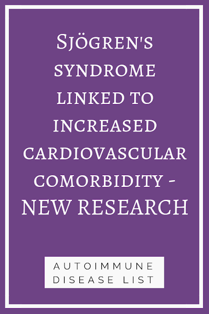 Sjögren's syndrome linked to increased cardiovascular comorbidity