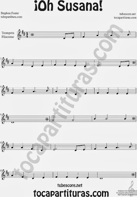 ¡Oh Susana! Partitura de Trompeta y Fliscorno Sheet Music for Trumpet and Flugelhorn