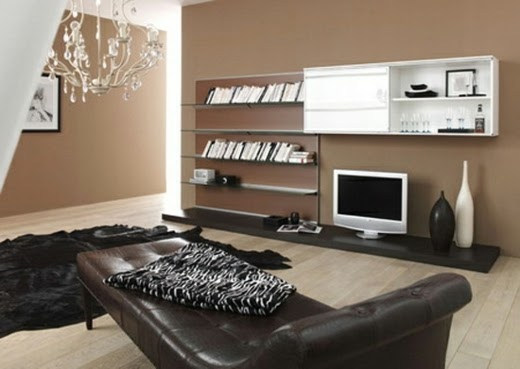 decorar sala con marrón