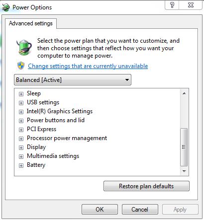 đặt thời gian cảnh báo hết pin laptop phù hợp