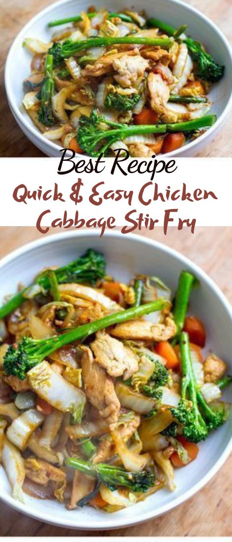 Quick & Easy Chicken Cabbage Stir Fry #healthyfood #dietketo