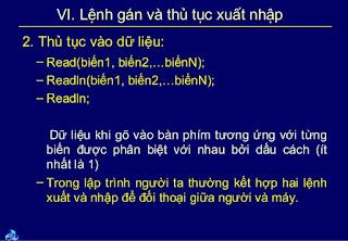 Thu tuc vao ra du lieu - Wiki Pascal