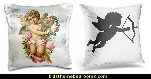 cherub throw pillows  mythology theme bedrooms - greek theme room - roman theme rooms - angelic heavenly realm theme decorating ideas - Greek Mythology Decorations -  angel wall lights - angel wings decor - angel theme bedroom ideas - greek mythology decorating ideas - Ancient Greek Corinthian Column - Spartan Warrior Gladiators - Greek gods - Angel themed baby room - angel decor - cloud murals - heaven murals - angel murals - ethereal heavenly style - cupid theme bedrooms - cherub throw pillows