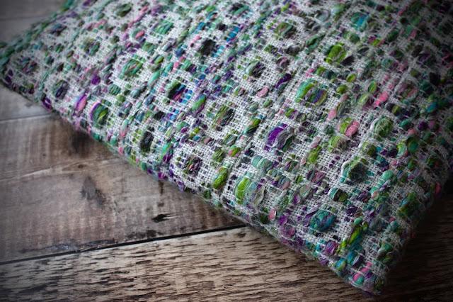 handspun hand woven cushion