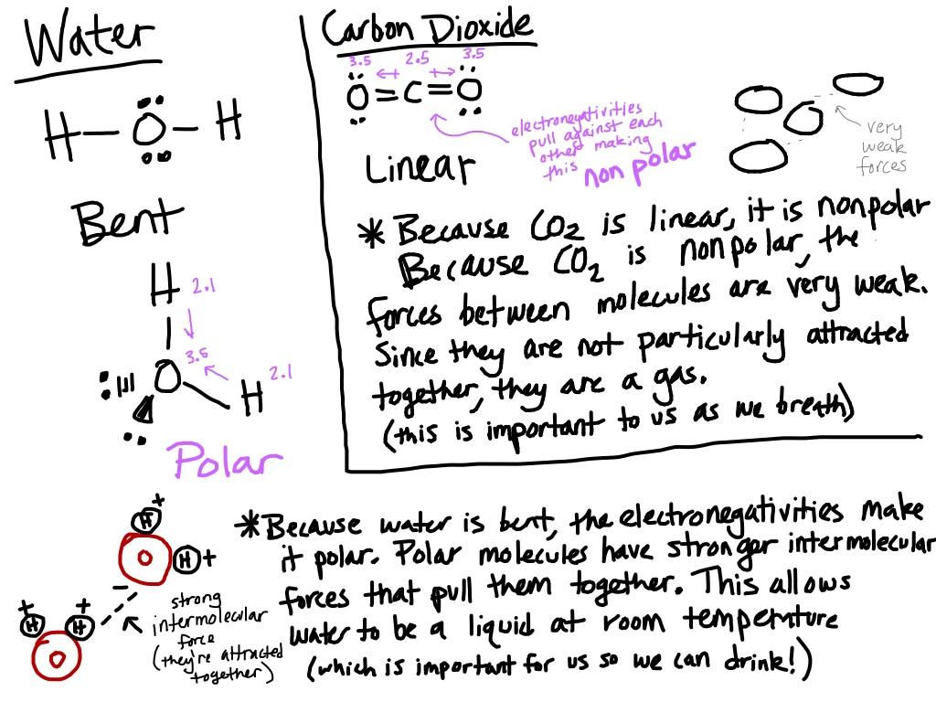 Chemistry Notes Co2 Vs H2o