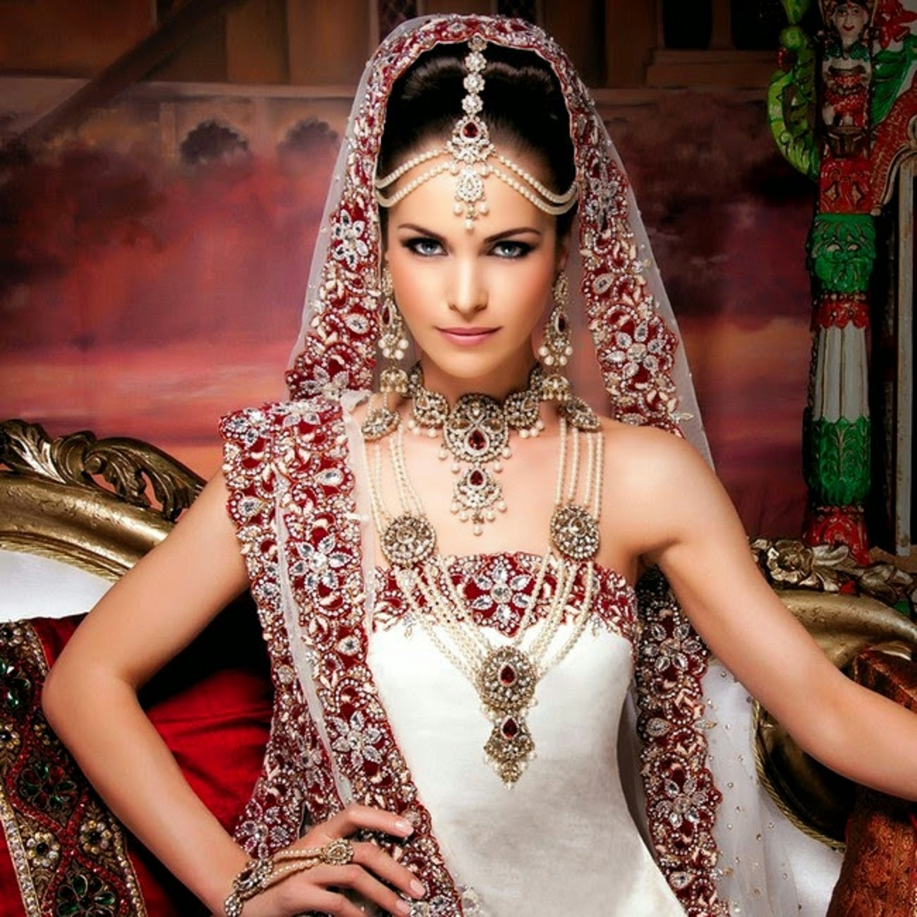 Dynamic Views: Beautiful Indian Bridal Jewellery Set For ...