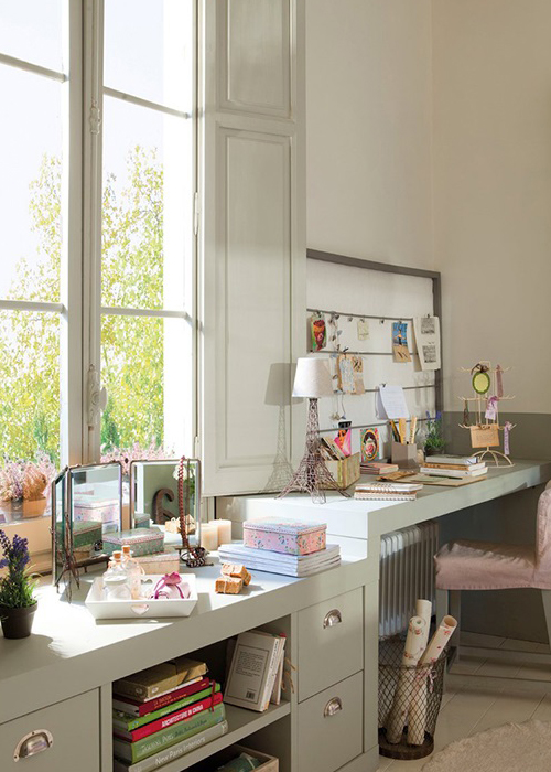 Un precioso dormitorio juvenil muy femeninoA pretty femenine teen's bedroom