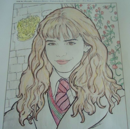 Pencil color Hermione Granger Harry Potter sheet