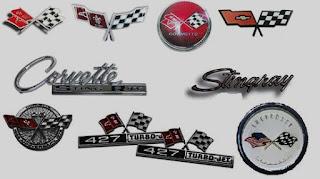 classic car corvette emblem