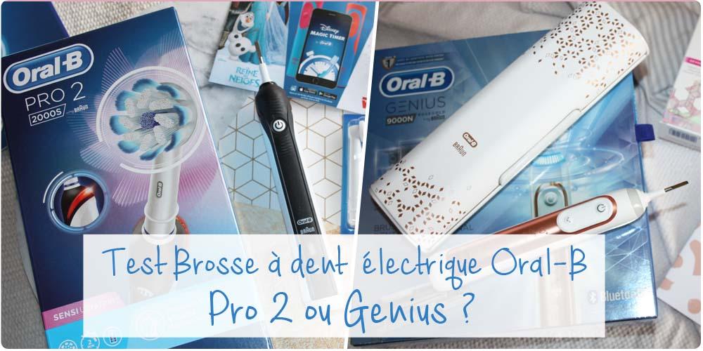 Test comparatif : Brosse à dent électrique Oral-B