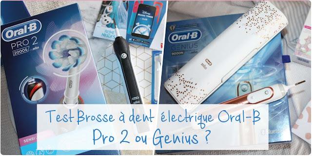 Test comparatif : Brosse à dent électrique Oral-B Genius 9000N VS Pro 2 2000S