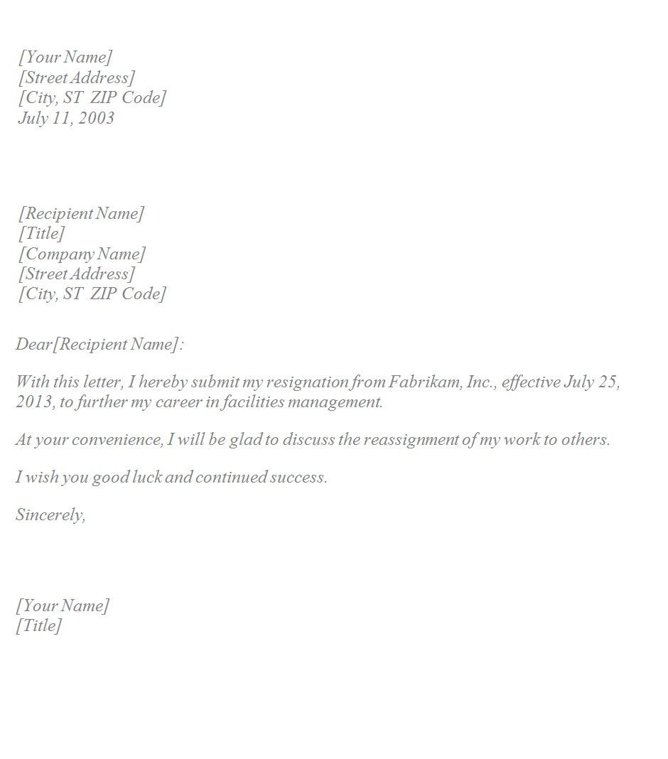 sample resignation letters basic resignation letter template sample 1600