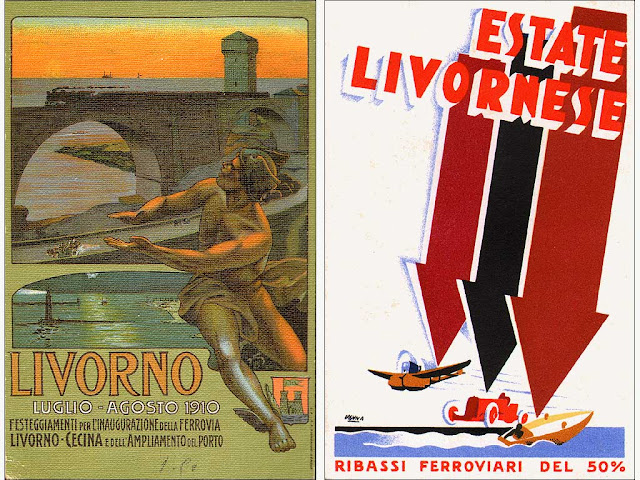 Vintage postcards of Livorno
