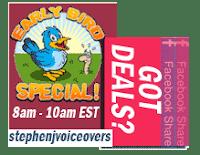 Wednesdays Early Bird Specials