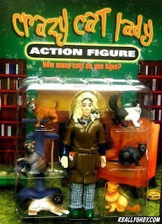 crazy cat lady action figure funny product