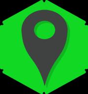 location hexagon icon