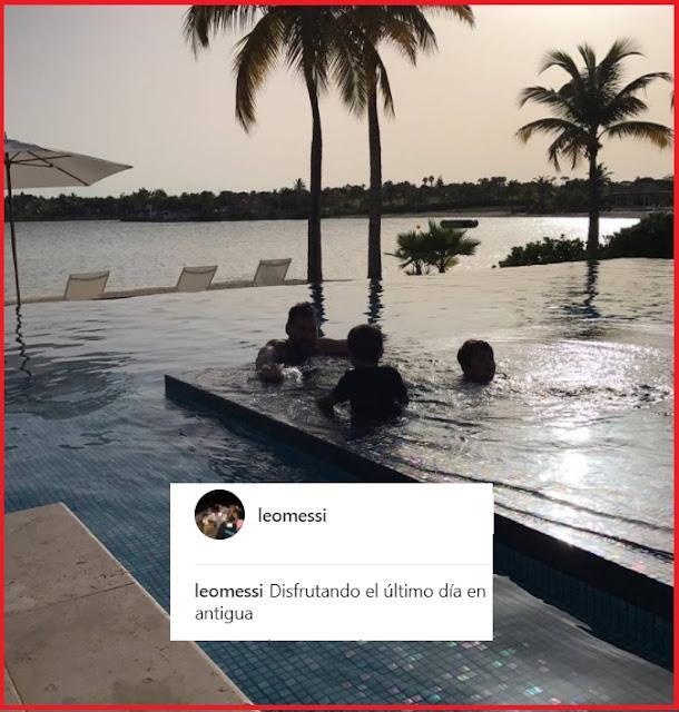 Leo Messi y su último día de vacaciones en Antigua