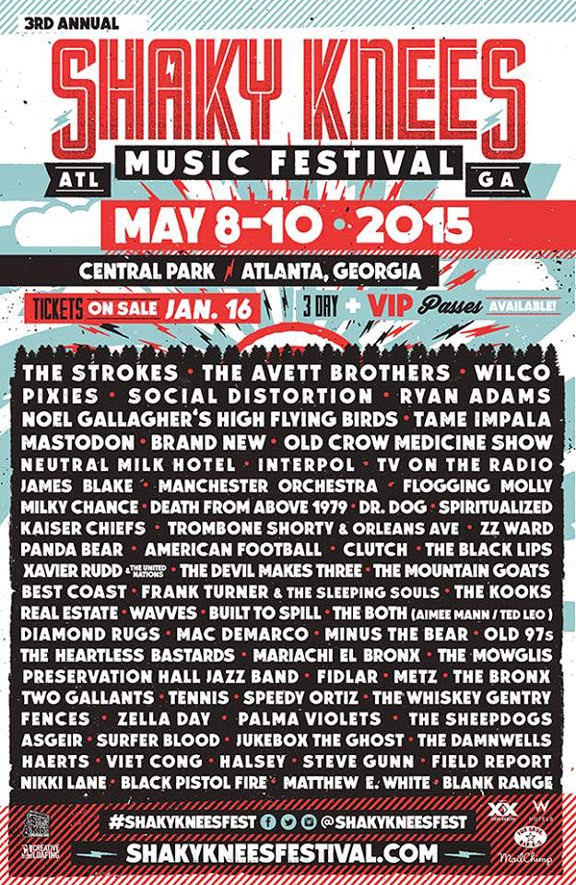 "New Kid on the Block ""Shaky Knees"" 2015 Music Fest in Atlanta- Out Bangs Coachella and Bonnaroo"