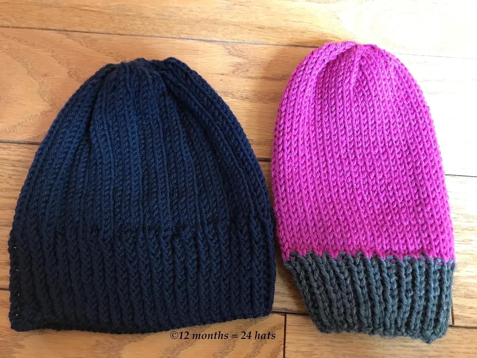 12 months = 24 hats