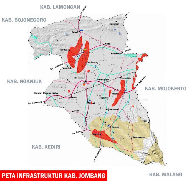 Gambar Peta infrastruktur kabupaten Jombang