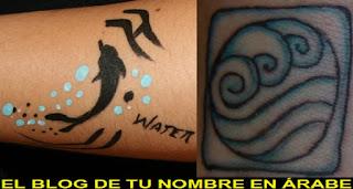 Tatuajes de lso elemento: El agua
