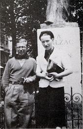 Simone de Beauvoir and Jean-Paul Sartre, 1930
