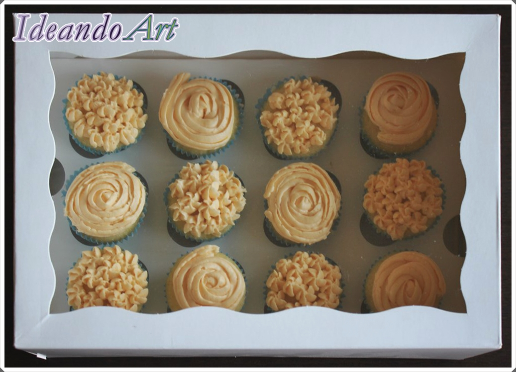 Caja mini cupcakes naranja