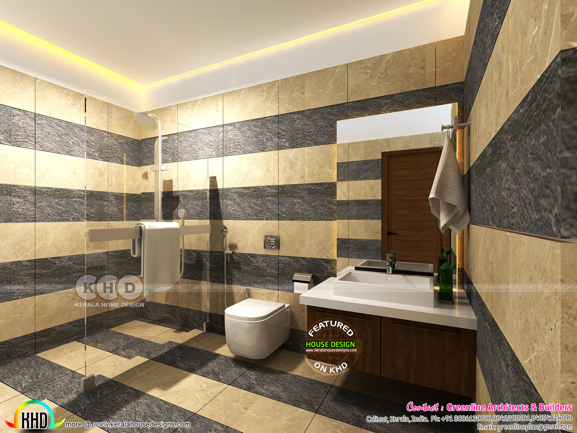 Modern bathroom interiors in Kerala - Kerala home design ...