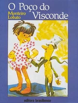 o poço do visconde - monteiro lobato - editora brasiliense - sítio do picapau amarelo - manoel victor filho - jacob levitinas - década de 1990 - década de 2000 - capa de livro - bookcover
