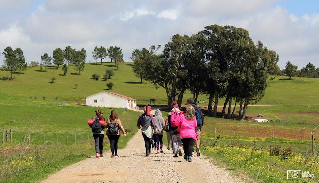 caminhada na Quinta do Pisão