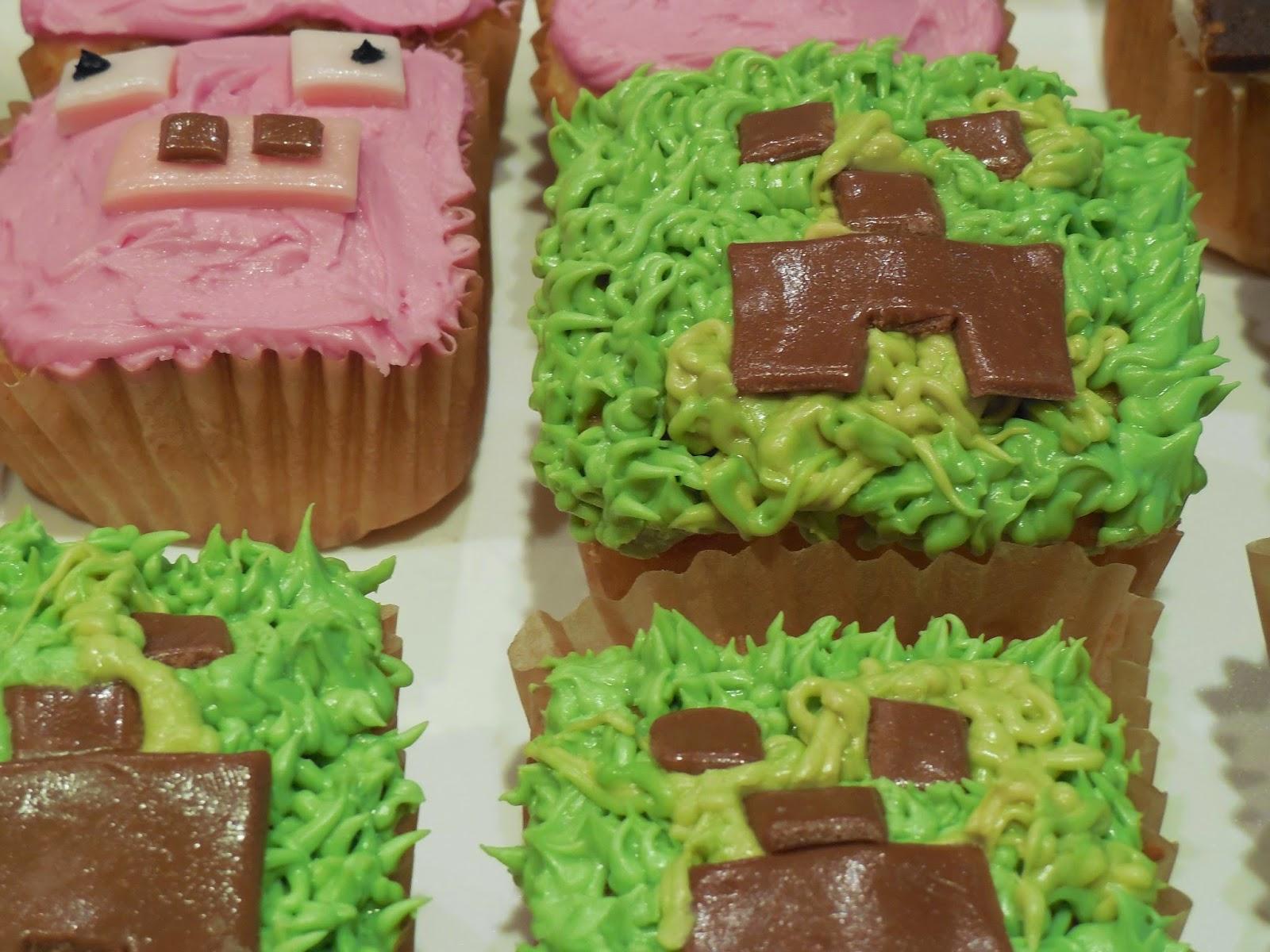 Woof Nanny Minecraft Cupcakes