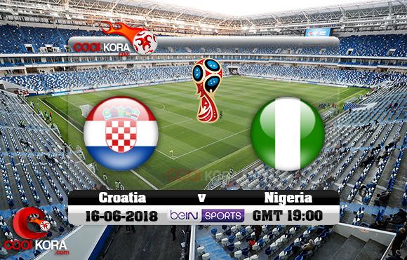 مشاهدة مباراة كرواتيا ونيجيريا اليوم 16-6-2018 بي أن ماكس كأس العالم 2018