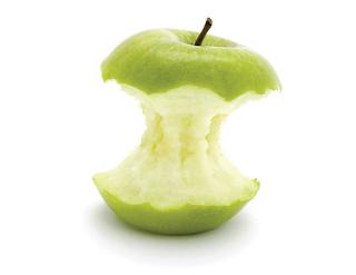 Saya sangat sukakan epal sampai sanggup makan sisanya.