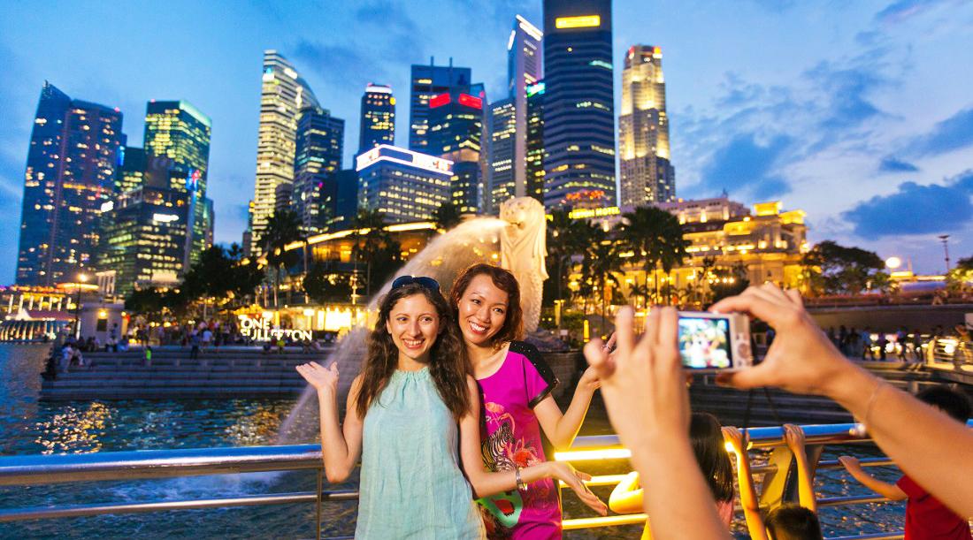 selfie cantik dan manis di Singapura