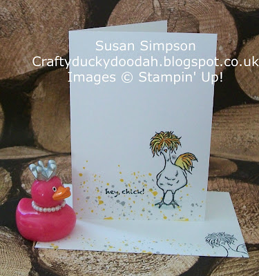 Stampin Up! UK Independent  Demonstrator Susan Simpson, Craftyduckydoodah!, Hey Chick, Gorgeous Grunge, Supplies available 24/7,