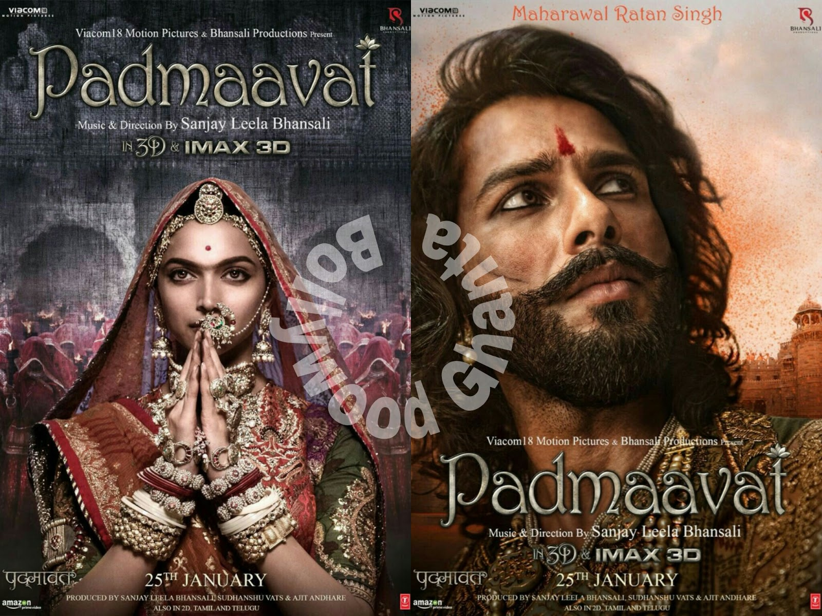 Padmavat will be released on 25th Jan also in IMax-3D