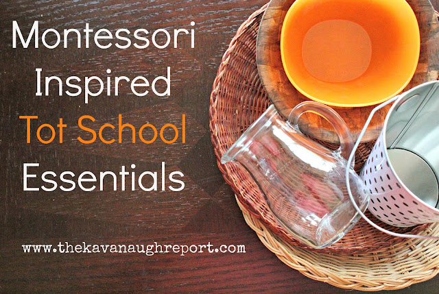Montessori inspired tot school essentials, a list of essentials if you want to tot school at home.