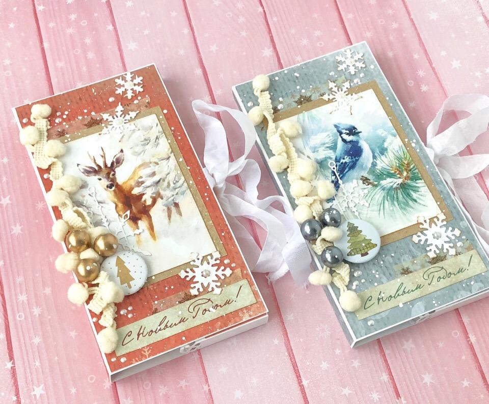 Открытка шоколадница новый год