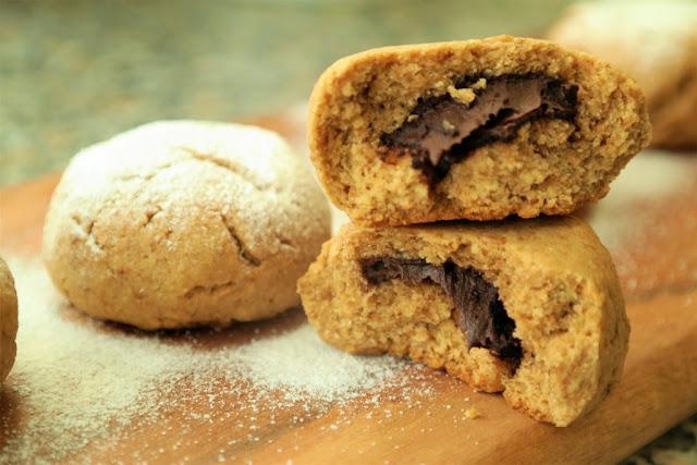 Şekersiz Çikolata Dolgulu Kurabiye