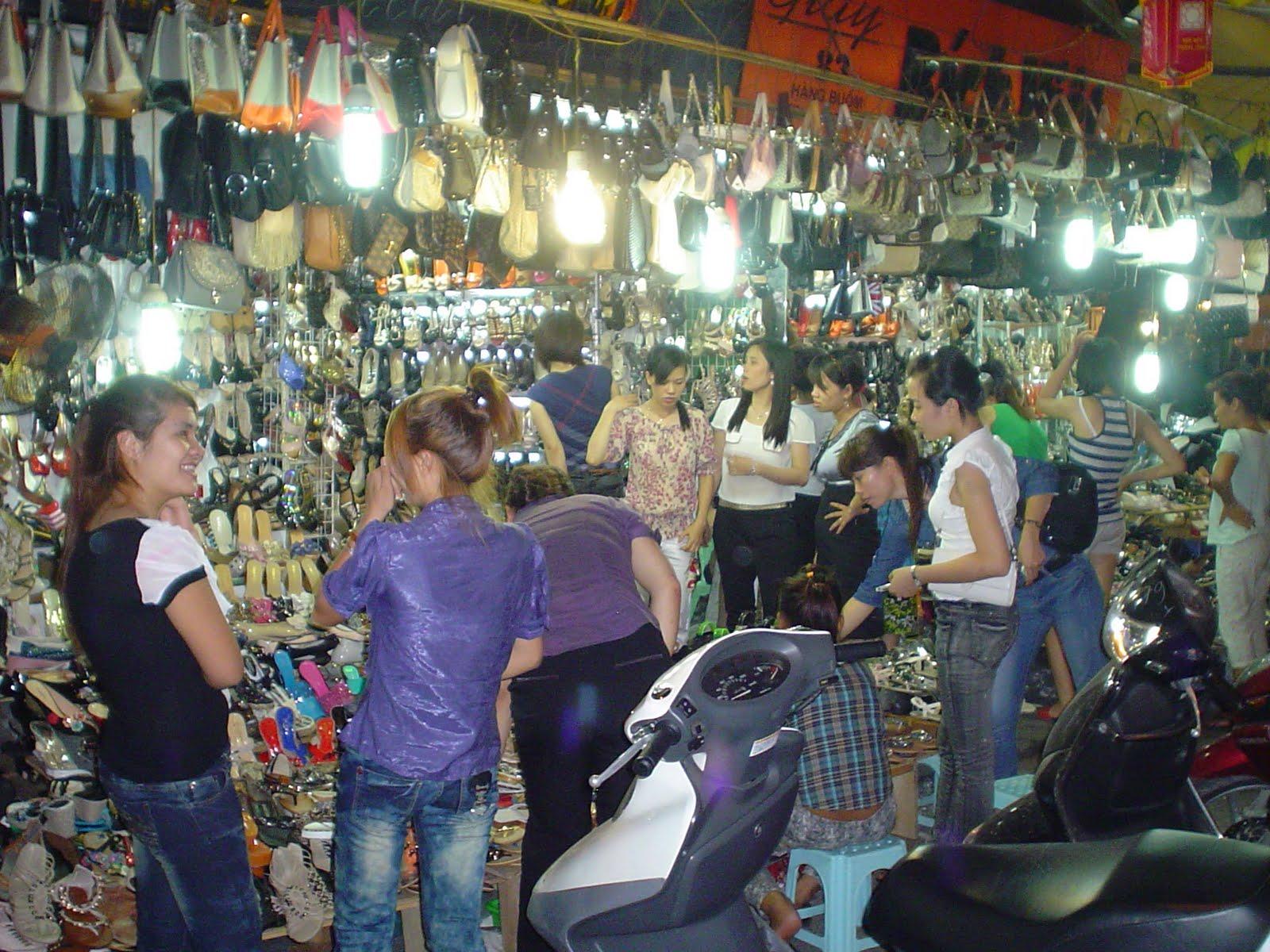 Shoe Street Market In Hanoi Old Town