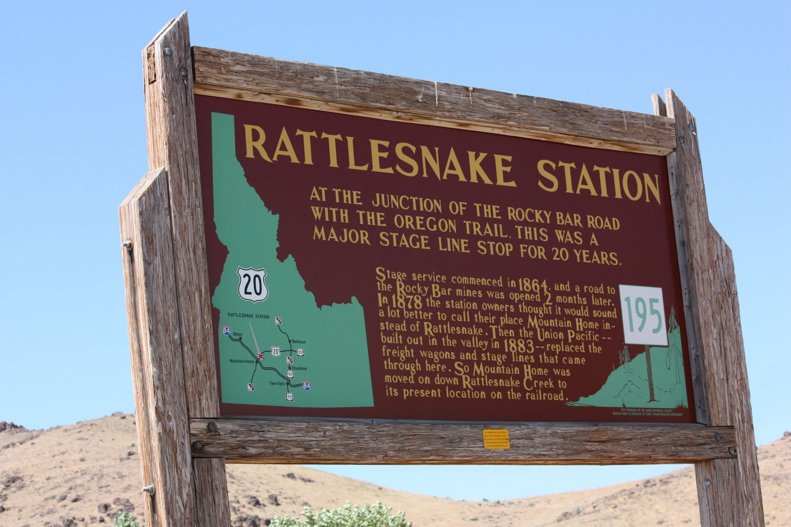 Boise Daily Photo: Rattlesnake Station, Now Known as Mountain Home