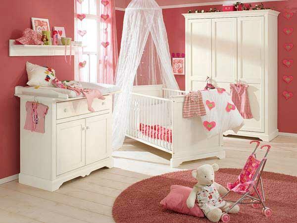 Habitaciones de beb con paredes color rosa dormitorios - Adornos habitacion bebe ...