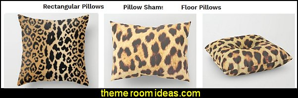 LEOPARD real chic pillows leopard pillows   Tropical beach style bedroom decorating ideas - beach bedrooms - surfer theme rooms - tropical theme Hawaiian style decorating - raffia valance window ideas - tropical bedding - tropical wall murals - palm trees decor - tropical bedroom decorating ideas - tropical furniture - tropical baby nursery decorating