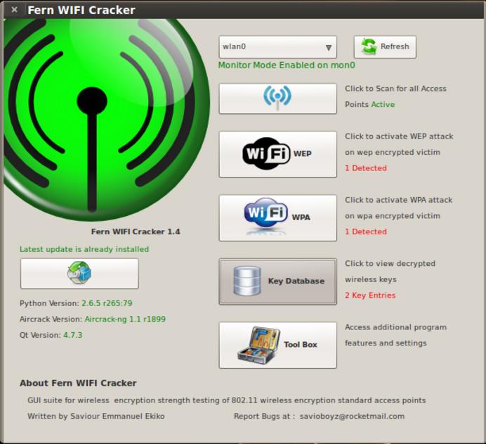 Fern Wifi Cracker Penetration Testing